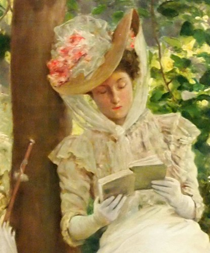 Woman reading  - Clovis DIDIER  (1858-1939) - Paintings & Drawings Style
