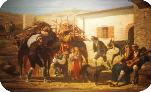 Genre scene  - Eugène GLUCK (1820-1898)
