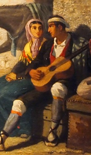 Genre scene  - Eugène GLUCK (1820-1898) -