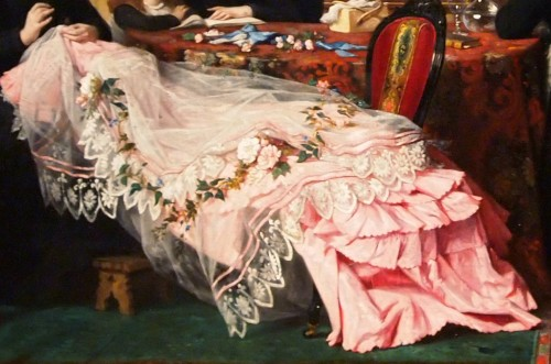 Paintings & Drawings  - Dressmaker - Jules Hyppolyte RAVEL (1826-1898)