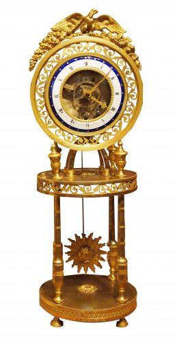 Skeleton clock signed BERGMILLER