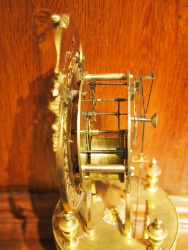 Skeleton clock signed BERGMILLER  - Directoire