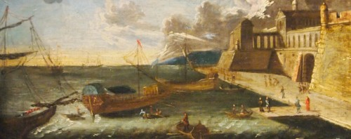 Marine, Arrival and departure of the port - Paintings & Drawings Style