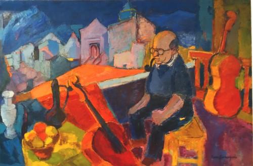 Hommage à Pablo CASALS – 1955 by Pierre AMBROGIANI