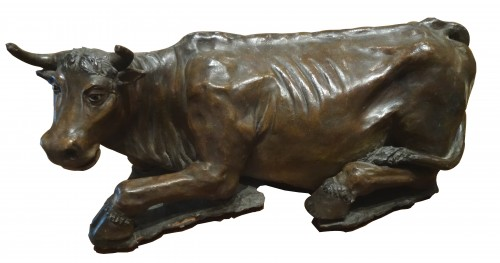Cow in terracota, Italy 18th century