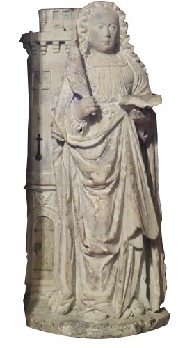 Sainte Barbe in stone 16 th century