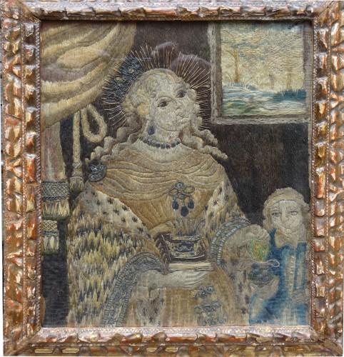 Saintes embroider 16 th century  - Religious Antiques Style