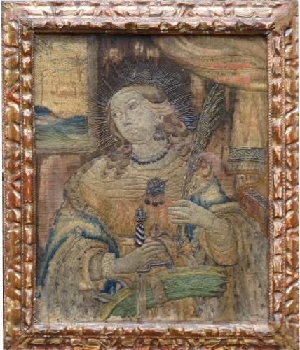 Religious Antiques  - Saintes embroider 16 th century