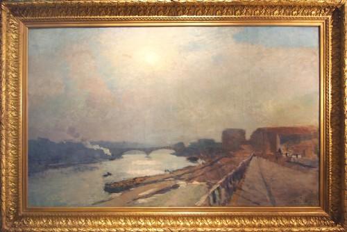 Albert LEBOURG (1849-1928) - View of The Seine