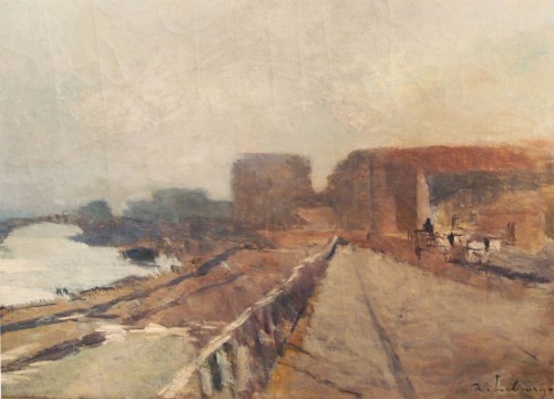 Paintings & Drawings  - Albert LEBOURG (1849-1928) - View of The Seine