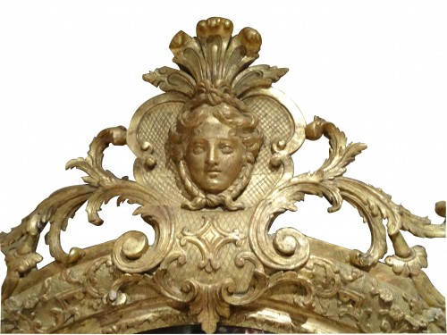 Miroir Regency (1715-1723) - Mirrors, Trumeau Style French Regence