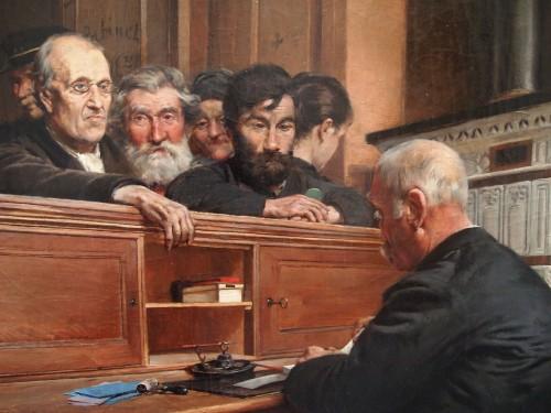 Le Bureau des Bienfaisance - Ferdinand GUELDRY (1858-1945) - Paintings & Drawings Style