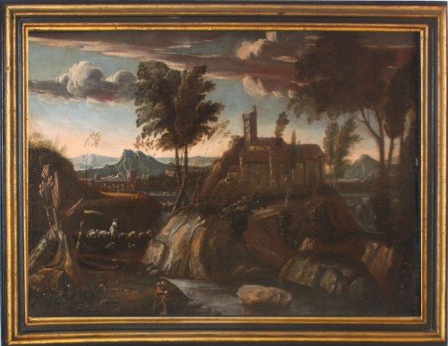 Landscape with castle, Louis XIV period