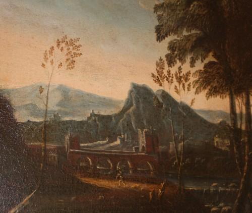 17th century - Landscape with castle, Louis XIV period