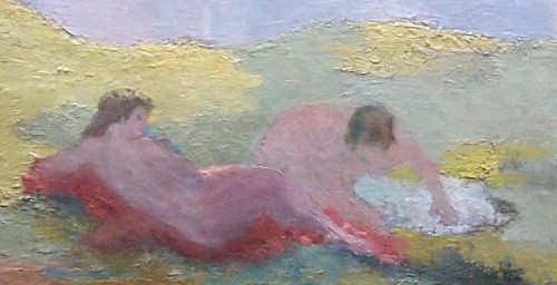 The woman Bather - Isabel BEAUBOIS DE MONTORIOL  (born in 1876) - Paintings & Drawings Style