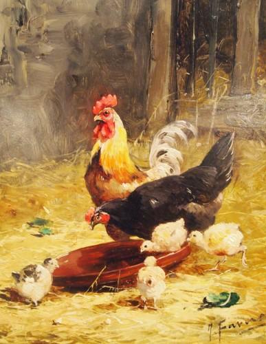 Farmyard - Joseph FAVEROT (1862-?) - Paintings & Drawings Style