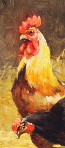 Paintings & Drawings  - Farmyard - Joseph FAVEROT (1862-?)
