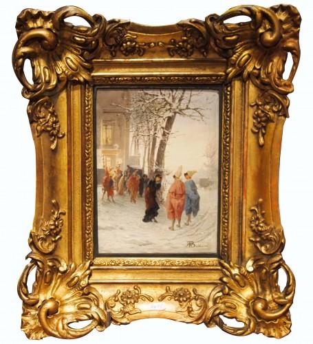 Masked Winter Ball - Alessandro BALDUINO (1844 - 1891)