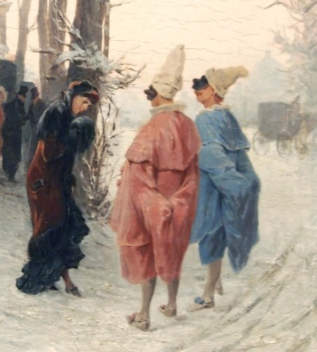 Paintings & Drawings  - Masked Winter Ball - Alessandro BALDUINO (1844 - 1891)