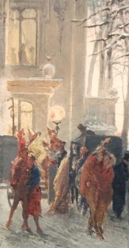 19th century - Masked Winter Ball - Alessandro BALDUINO (1844 - 1891)