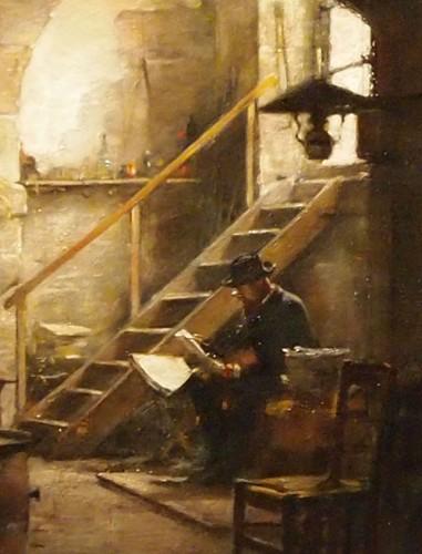 Paintings & Drawings  - The Reading - Antoine Jean BAIL (1830-1918)