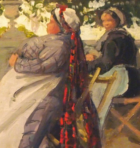 "DANNENBERG (1861-1948) - ""The nannies"" in Luxembourg Gardenor in Tuileries - Paintings & Drawings Style"
