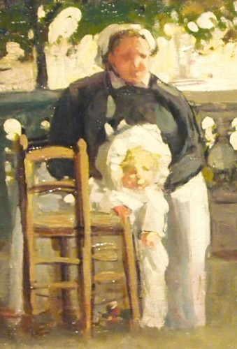 "Paintings & Drawings  - DANNENBERG (1861-1948) - ""The nannies"" in Luxembourg Gardenor in Tuileries"