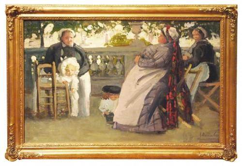 "DANNENBERG (1861-1948) - ""The nannies"" in Luxembourg Gardenor in Tuileries -"