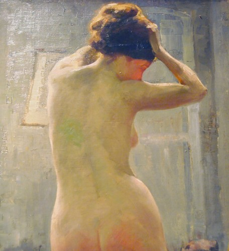 Paintings & Drawings  -  naked in the studio by Gaston HOFFMANN.
