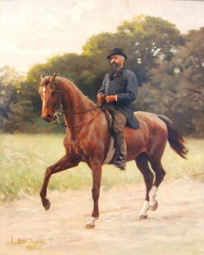 Rider in dressage  - E. B. DEBAT-PONSAN (1847-1913) - Paintings & Drawings Style
