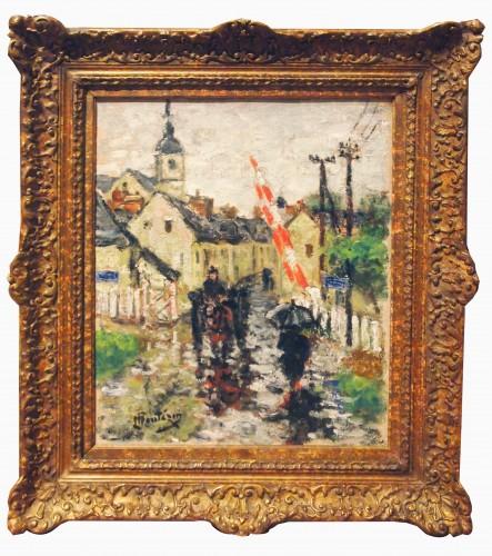 Raining day by Eugene MONTEZIN - Paintings & Drawings Style