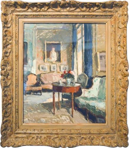 Indoor scene by Paul HUGHES - Paintings & Drawings Style