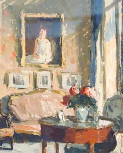 Paintings & Drawings  - Indoor scene by Paul HUGHES