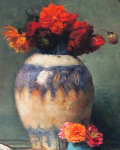 Still flive with flowers - Maurice BOMPARD (1857-1936) - Paintings & Drawings Style