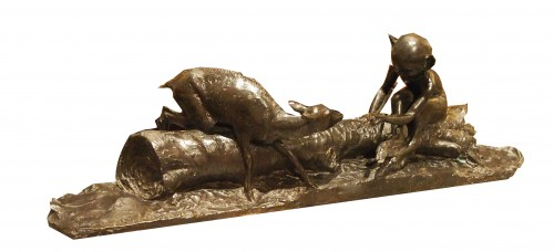 Fauna and Fawn - Ary J. L. BITTER (1883-1973) - Sculpture Style Art nouveau