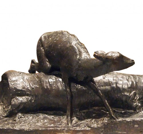 Sculpture  -  Fauna and Fawn - Ary J. L. BITTER (1883-1973)