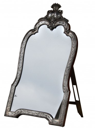 Rare Silver Table Mirror