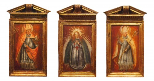 Religious Oil On Wood, Early 18th Century