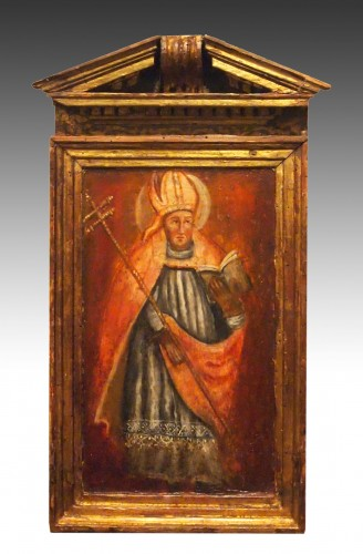 Religious Oil On Wood, Early 18th Century  - Religious Antiques Style