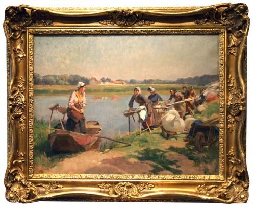 Laundress - Emile-Charles DAMERON (1848-1908)