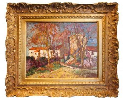 Landscape with hamlet - Victor CHARRETON (1864-1936)