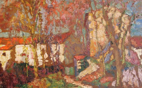 Landscape with hamlet - Victor CHARRETON (1864-1936) - Paintings & Drawings Style