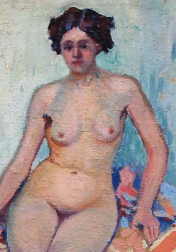 Paintings & Drawings  - Naked in an interior - Paul MADELINE (1863-1920)