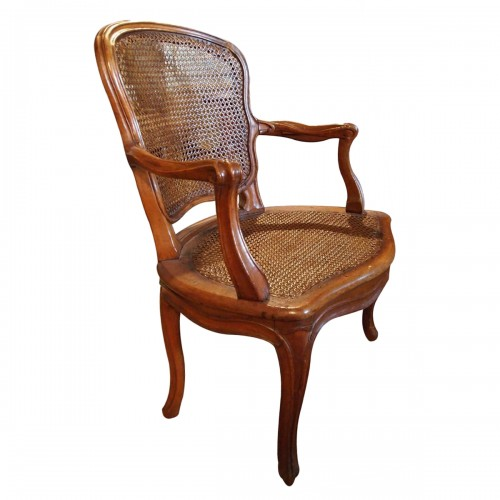 Armchair Louis XV Period Stamped Falconnet