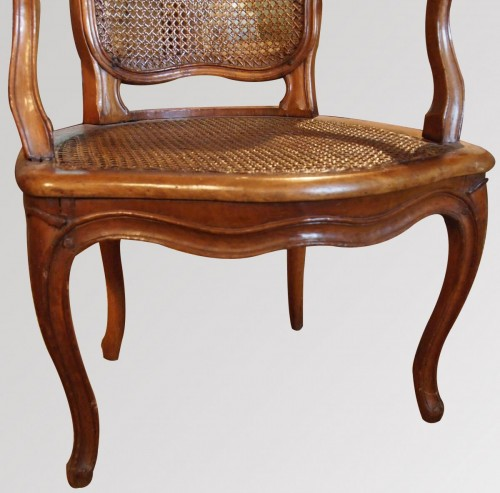 Seating  - Armchair Louis XV Period Stamped Falconnet