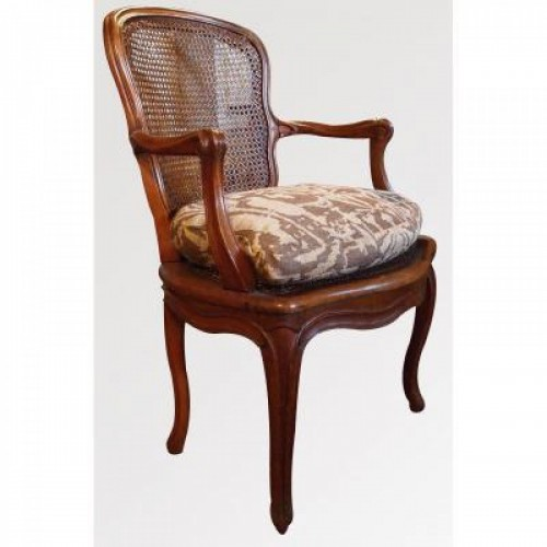 18th century - Armchair Louis XV Period Stamped Falconnet