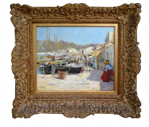 Port of Martigues - Louis Abel TRUCHET (1857-1918) - Paintings & Drawings Style