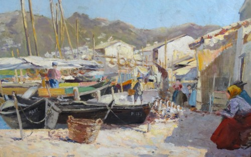 Paintings & Drawings  - Port of Martigues - Louis Abel TRUCHET (1857-1918)