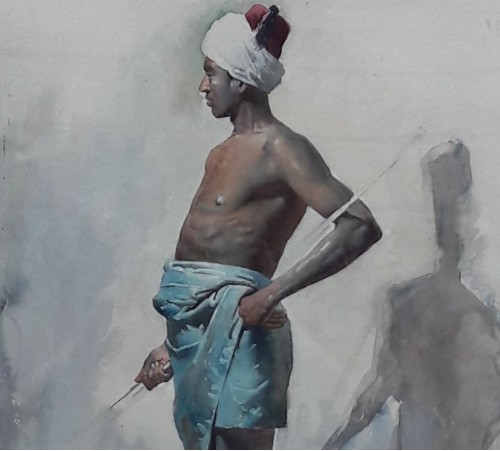 Paintings & Drawings  - Young African by Gustavo SIMONI