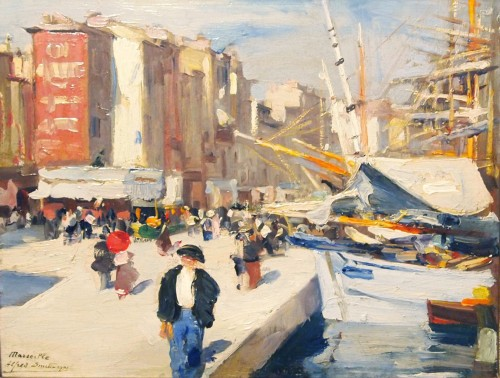 Port of MARSEILLE by Alfrid SMITH  - Paintings & Drawings Style